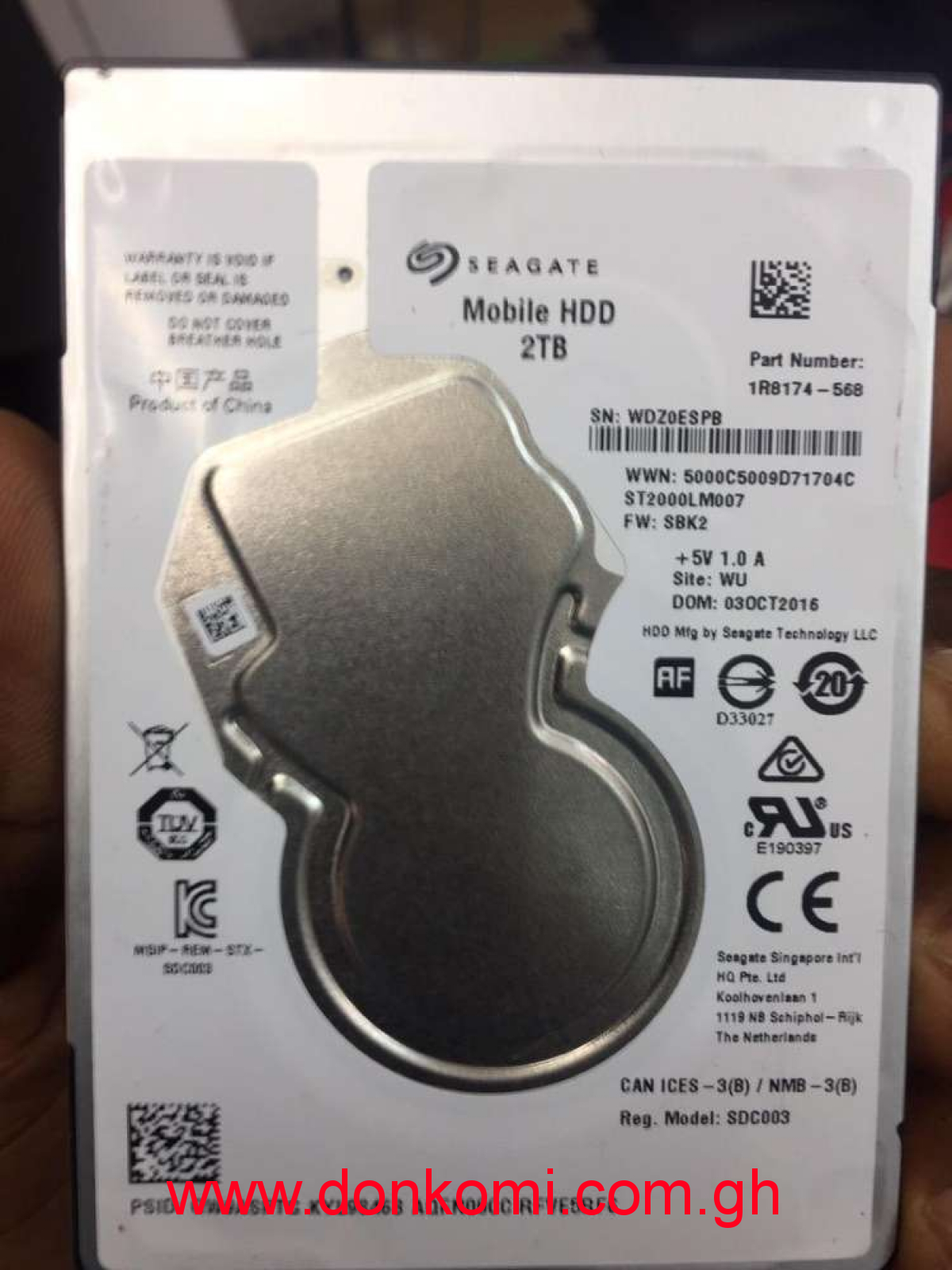 2 Terabyte Internal Laptop Hard Disk