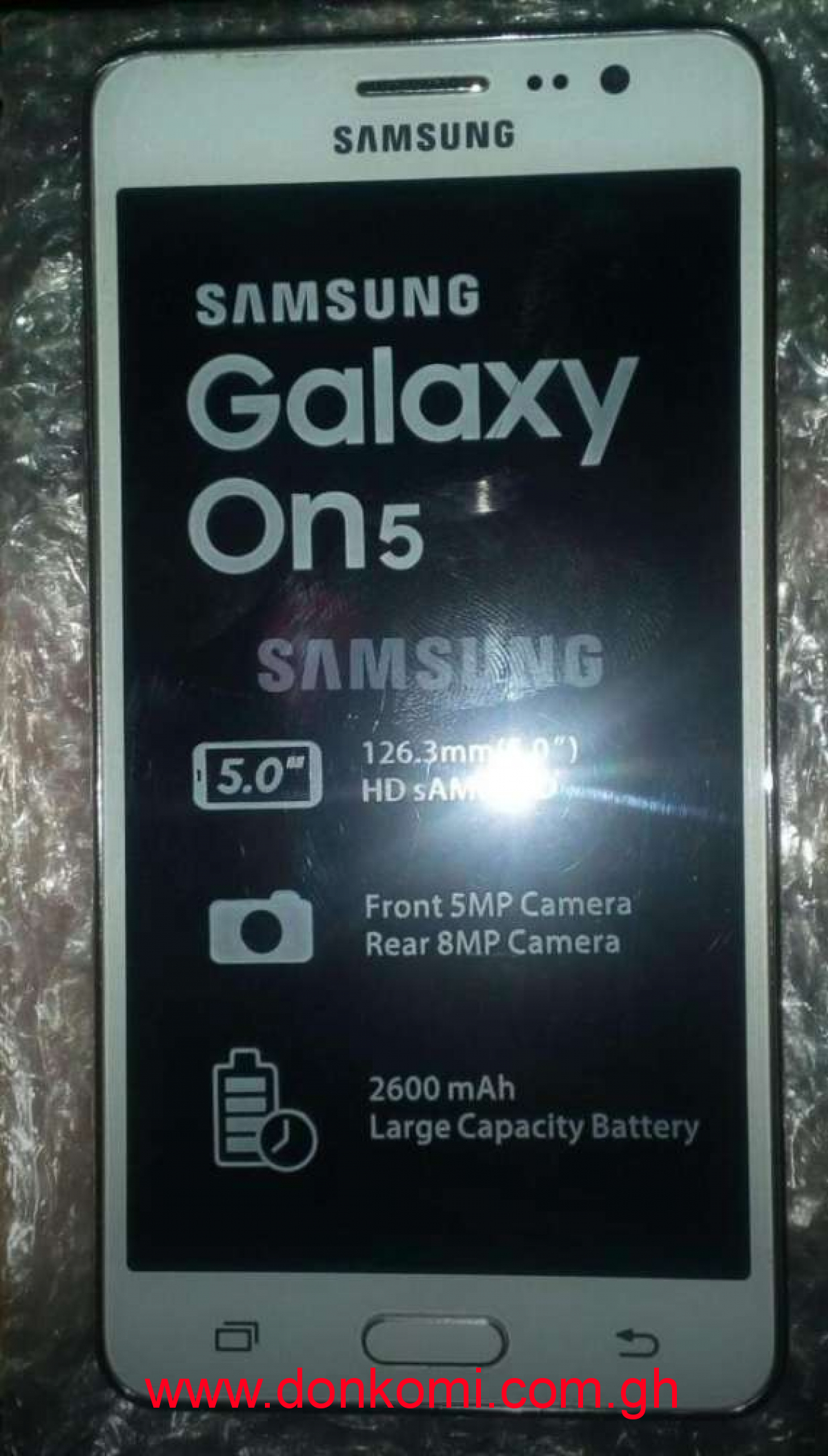 Samsung galaxy on5 original brand new flesh but not inbox .