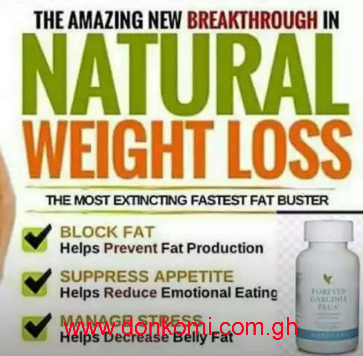 Weight Loss / Tummy flattening Natural products.