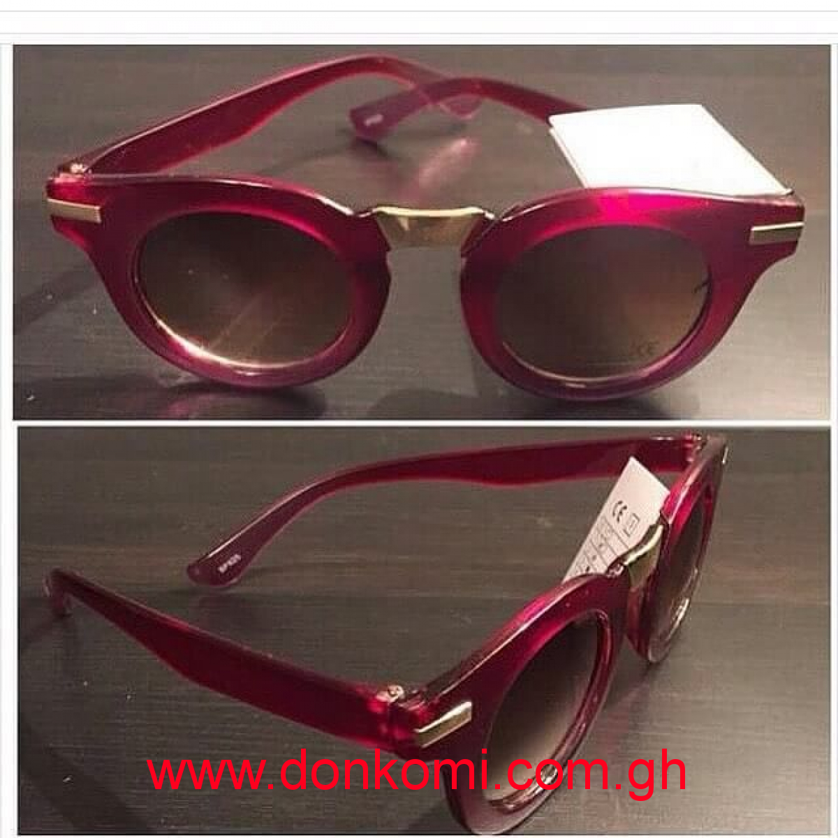 PURPLE SUNNIES WITH GOLD DETAILS (CODE -C7A3)