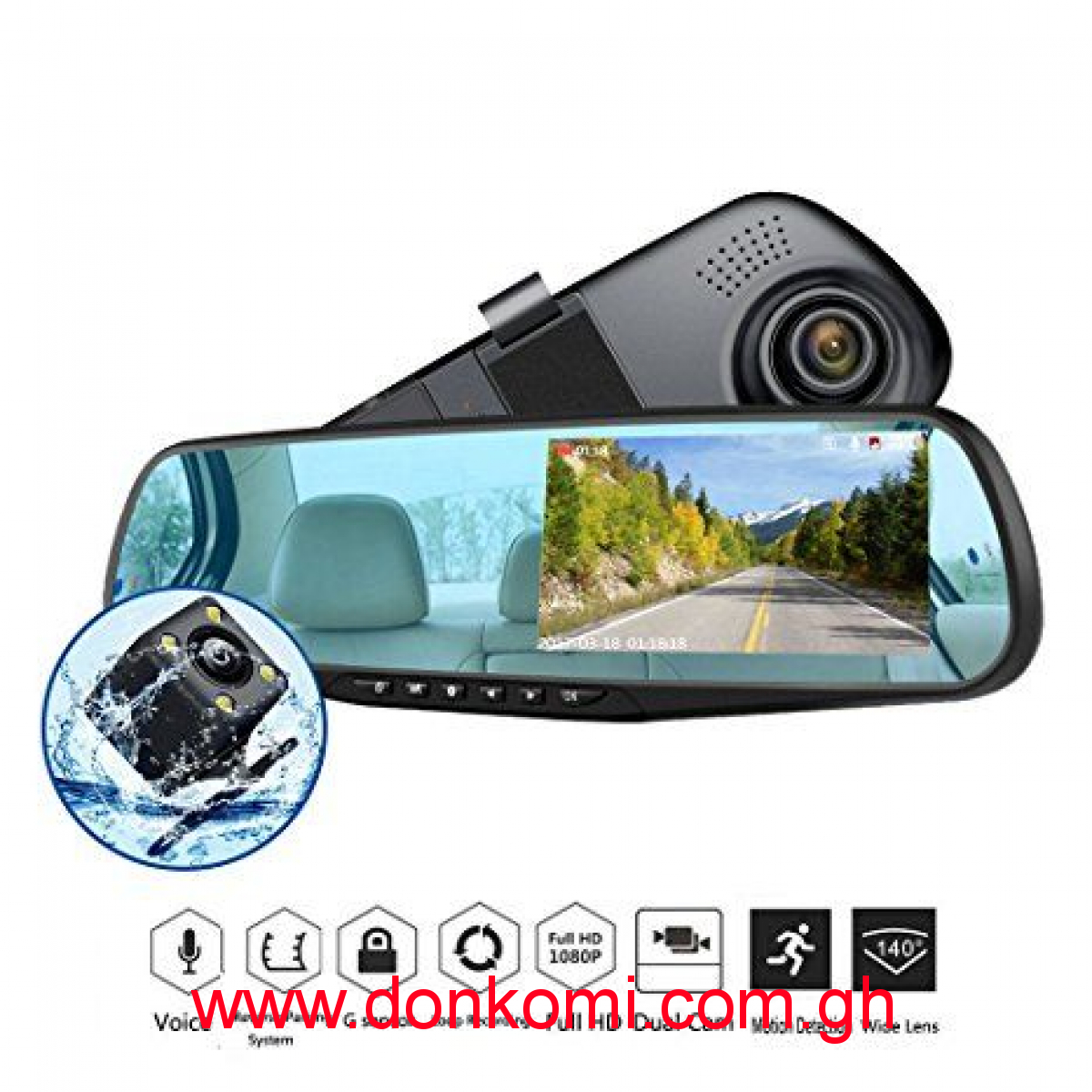 DUAL LENS CAR VIDEO CAMERA 1080P