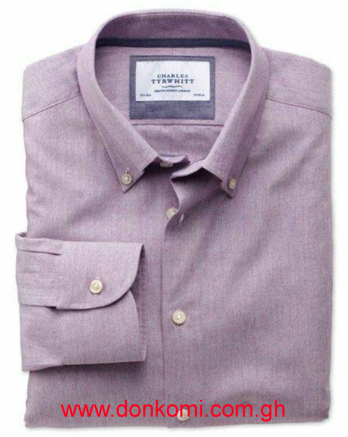 CHARLES TYRWHITT MAUVE LONG SLEEVE SHIRT