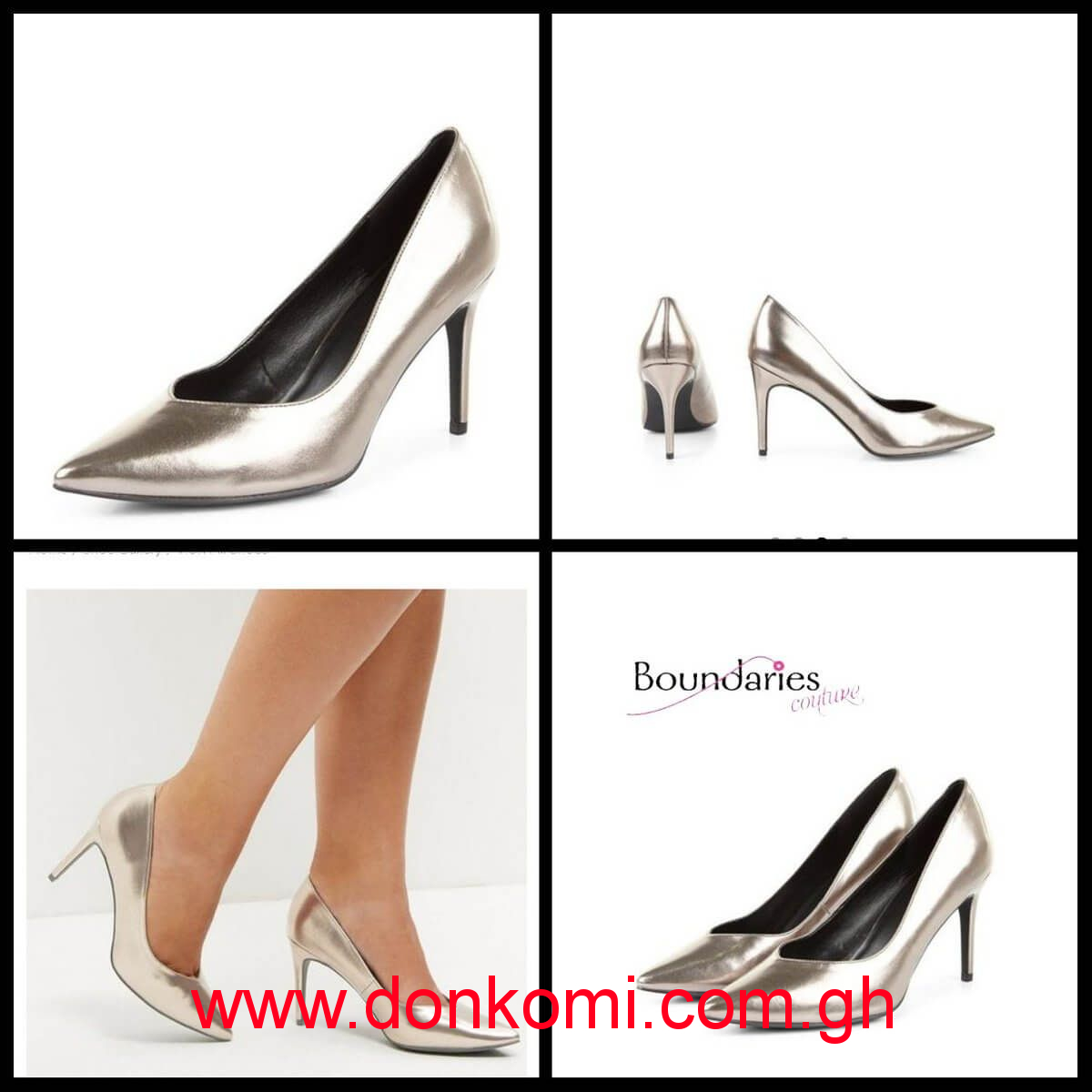 NEWLOOK BRONZE METALLIC POINTED COURT SHOES