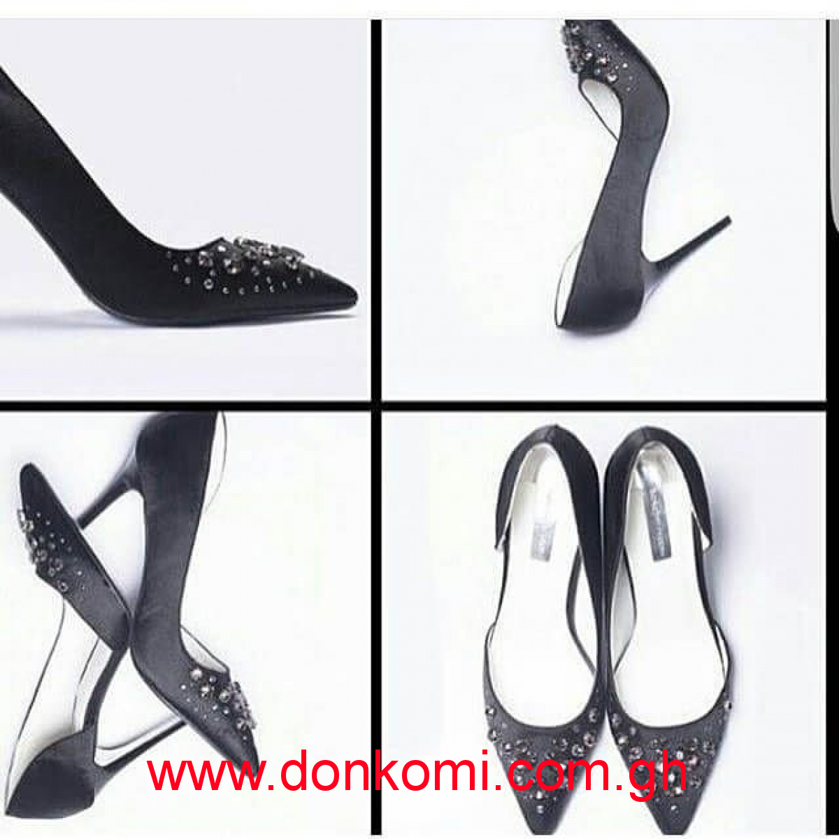 DOROTHY PERKINS HEELS WITH DIAMANTE STONES
