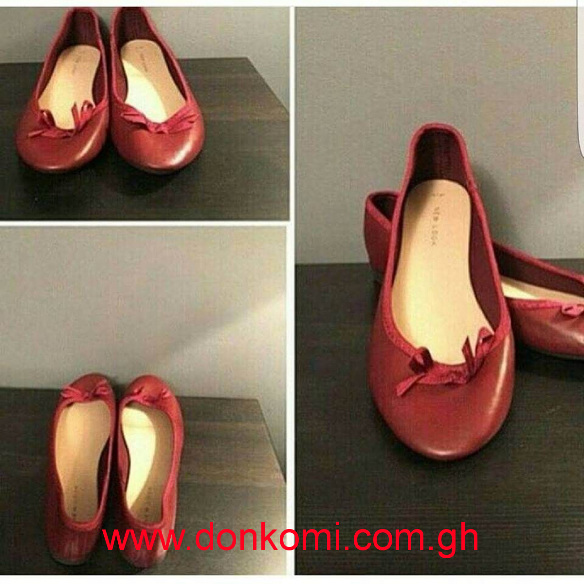 NEW LOOK BURGUNDY BALLET PUMPS