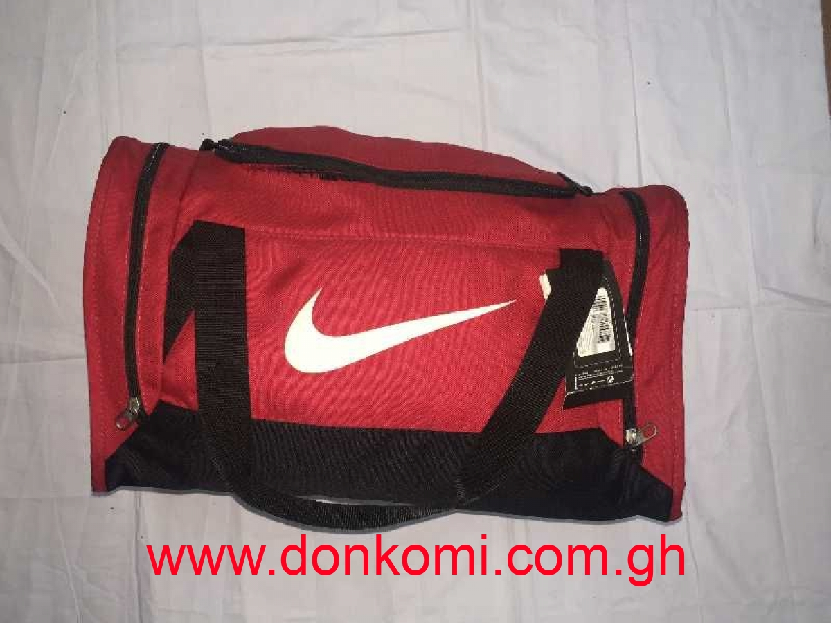 Nike Red & Black With White Sports Bag