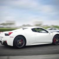 White Ferrari sportscar
