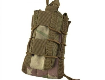 Elastic rifle & pistol combination magazine pouche
