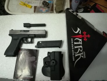 Glock 17 (rare full auto capability) with two mags and extras for sale.