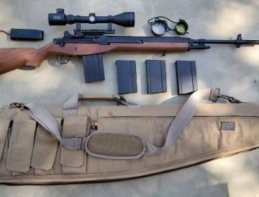 CYMA M14 AEG with Scope & 4 Mags
