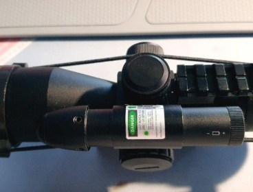 2.5-10X40 scope with Green Laser
