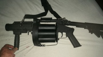 Never used grenade launcher and accessories