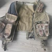 Battle vest and pistol