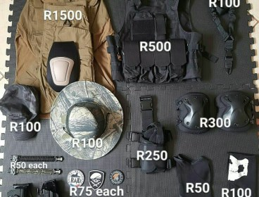 Airsoft gear and equipment
