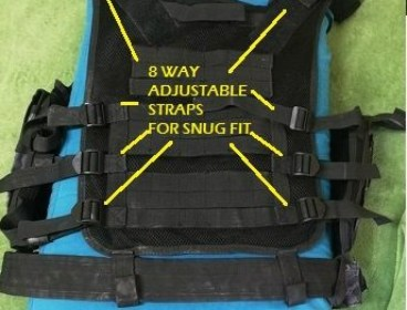 LIKE NEW / EXCELLENT CONDITION -> NC STAR TACTICAL VEST DRAGONSCALE BLACK - R750