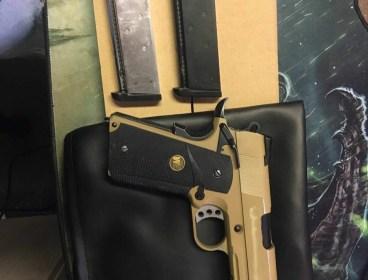 WE M.E.U. 1911 Railed Full Metal GBB Pistol