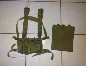 Chest rig/vest and dump pouch (Olive Green)