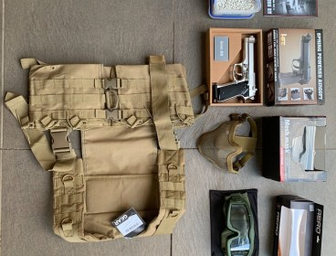New and unused airsoft gear