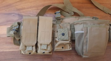 WWG Molle Belt (Tan) with various pouches