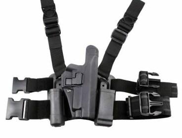 Tactical leg drop holster