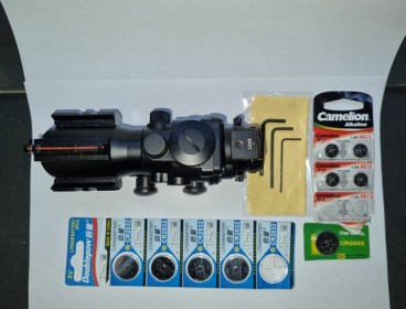 4x32mm Red/Green/Blue Cross-Hair Scope with Dual Rail (Willing to negotiate price)