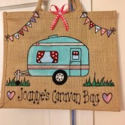 Handmade Hessian Caravan Bag
