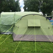 Family tent and extension awning