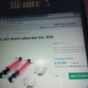 AL-KO Octagon shock Absorbers kit (red)