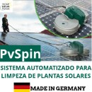 LIMPEZA DE SOLAR PVSPIN - Sistema Mecânizado dpara Limpeza de Instalações Fotovoltaicas
