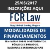 SEMINÁRIO SOBRE MODALIDADES DE FINANCIAMENTOS