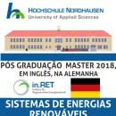 """PÓS GRADUAÇÃO (MASTER) NA ALEMANHA EM INGLÊS: """"ENERGIAS RENOVÁVEIS""""!"""