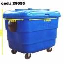 Conteiner Plástico Lixeira Contentor Lixo Predial 1000l Anextec