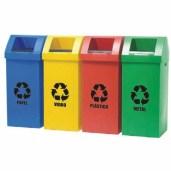 Cesto Para Lixo Coletor para lixo Reciclavel 90l. Polycart