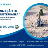 WORKSHOP TÉCNICO - REMEDIAÇÃO AMBIENTAL DE SOLO E ÁGUAS SUBTERRÂNEAS