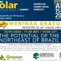 WEBINAR GRATUITO : O POTENCIAL DO NORDESTE DO BRASIL
