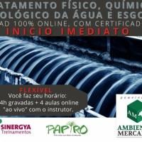 CURSO DE TRATAMENTO FÍSICO QUÍMICO E BIOLÓGICO DA ÁGUA E ESGOTO, EAD ONLINE COM INICIO IMEDIATO