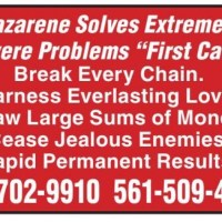 """Nazarene Solves Extremely Severe Problems """"First Call!"""""""