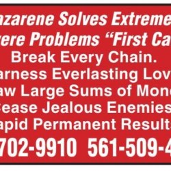 "Nazarene Solves Extremely Severe Problems ""First Call!"""