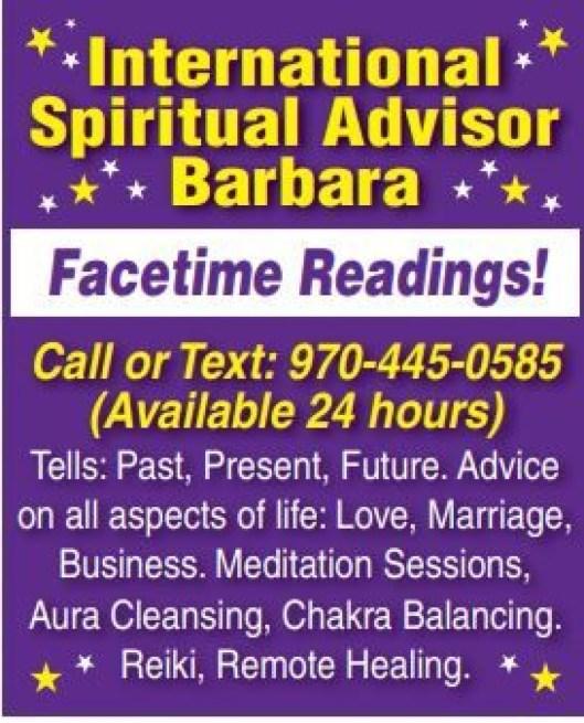 International Spiritual Advisor Barbara