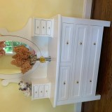 White dresser with removable mirror