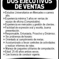 EJECUTIVOS DE VENTA