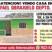 SAN RAFAEL OBRAJUELO VENDO CASA