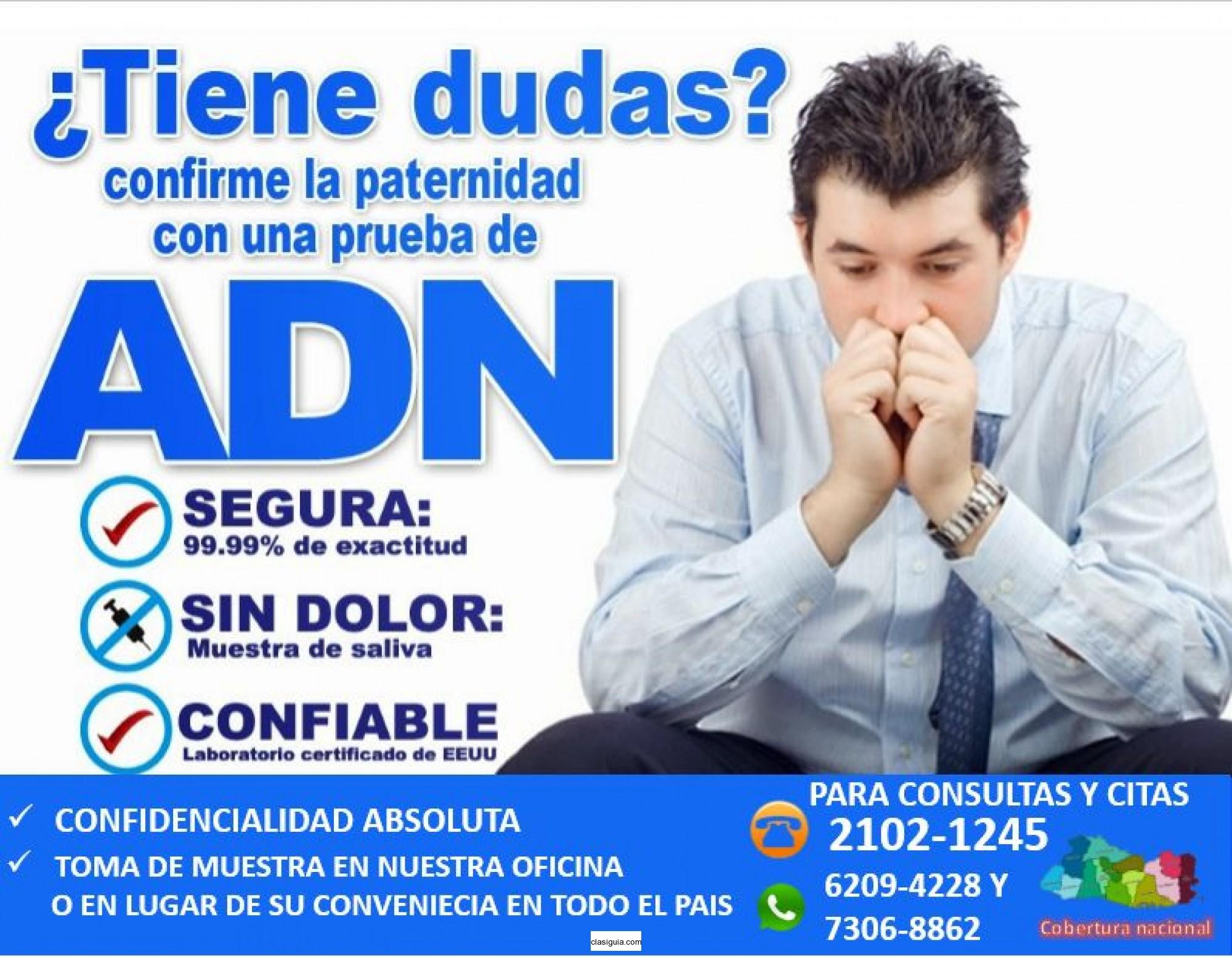 SERVICIO DE PRUEBAS DE ADN A LA MAS ALTA CALIDAD CON LOS HONORARIOS MAS ACCESIBLES DEL MERCADO