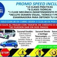 ESCUELA DE MANEJO GETSEMANI PROMO SPEED INCLUYE