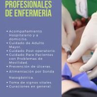 SERVICIOS PROFESIONALES DE ENFERMERÍA