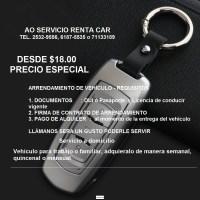 ALQUILER DE VEHICULO DESDE $18.00 DOLARES