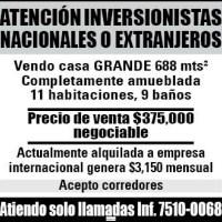 ATENCION INVERSIONISTAS NACIONALES Y EXTRANJEROS