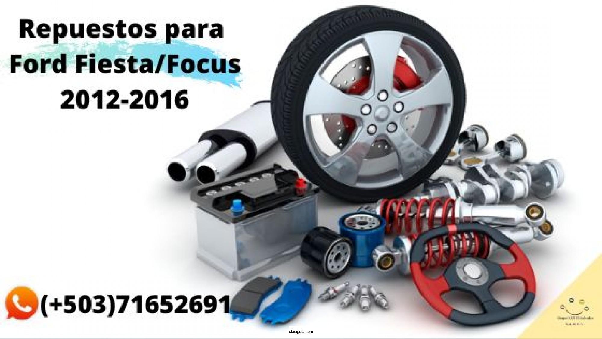 Repuestos para Ford Fiesta y Ford Focus 2012-2016.