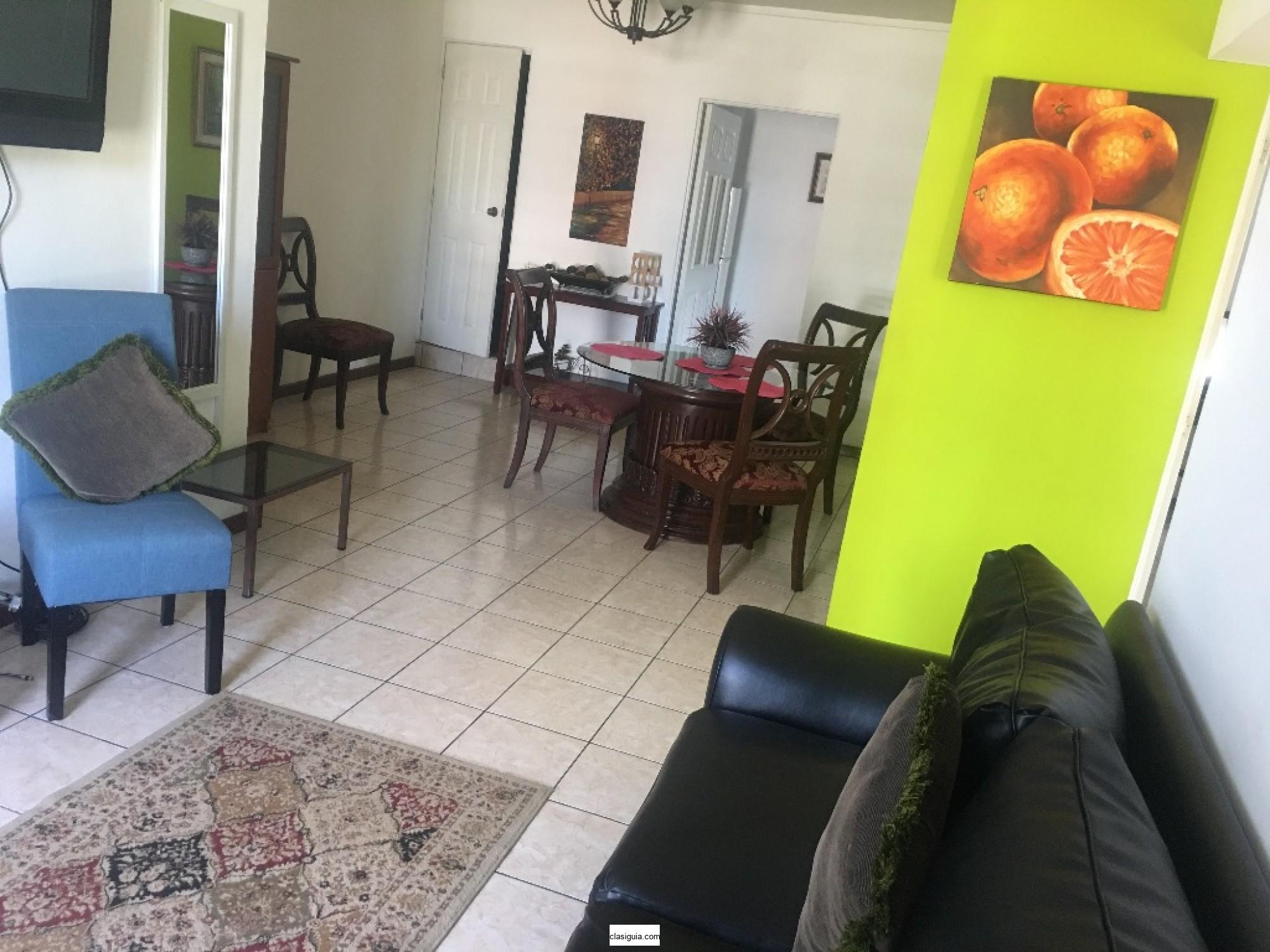 Alquilo apartamento amueblado   Col  san  Benito Zona  multiplaza