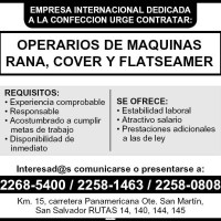 OPERARIOS DE MAQUINA